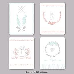 Sketchy wedding invitations