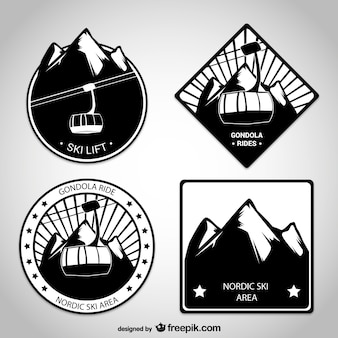 Ski lift badges pack