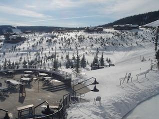 Ski station terrace