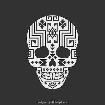 Skull with ethnic geometric