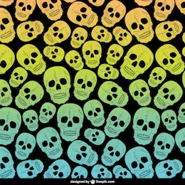 Skulls editable pattern