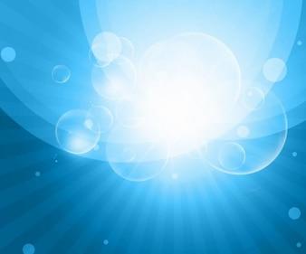 sky blue bokeh abstract vector