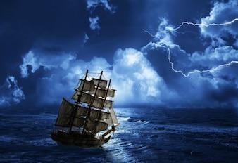 Sky boat sail sea cruiser