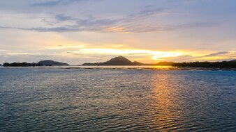 Sky island background seascape ocean