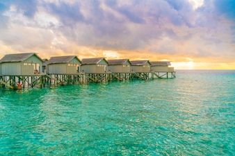 Sky relax hut tropical maldives