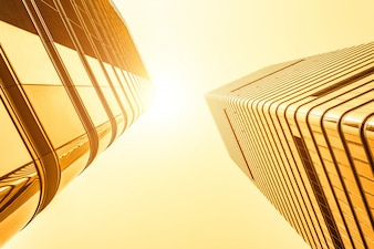 Skyline sky office building bright