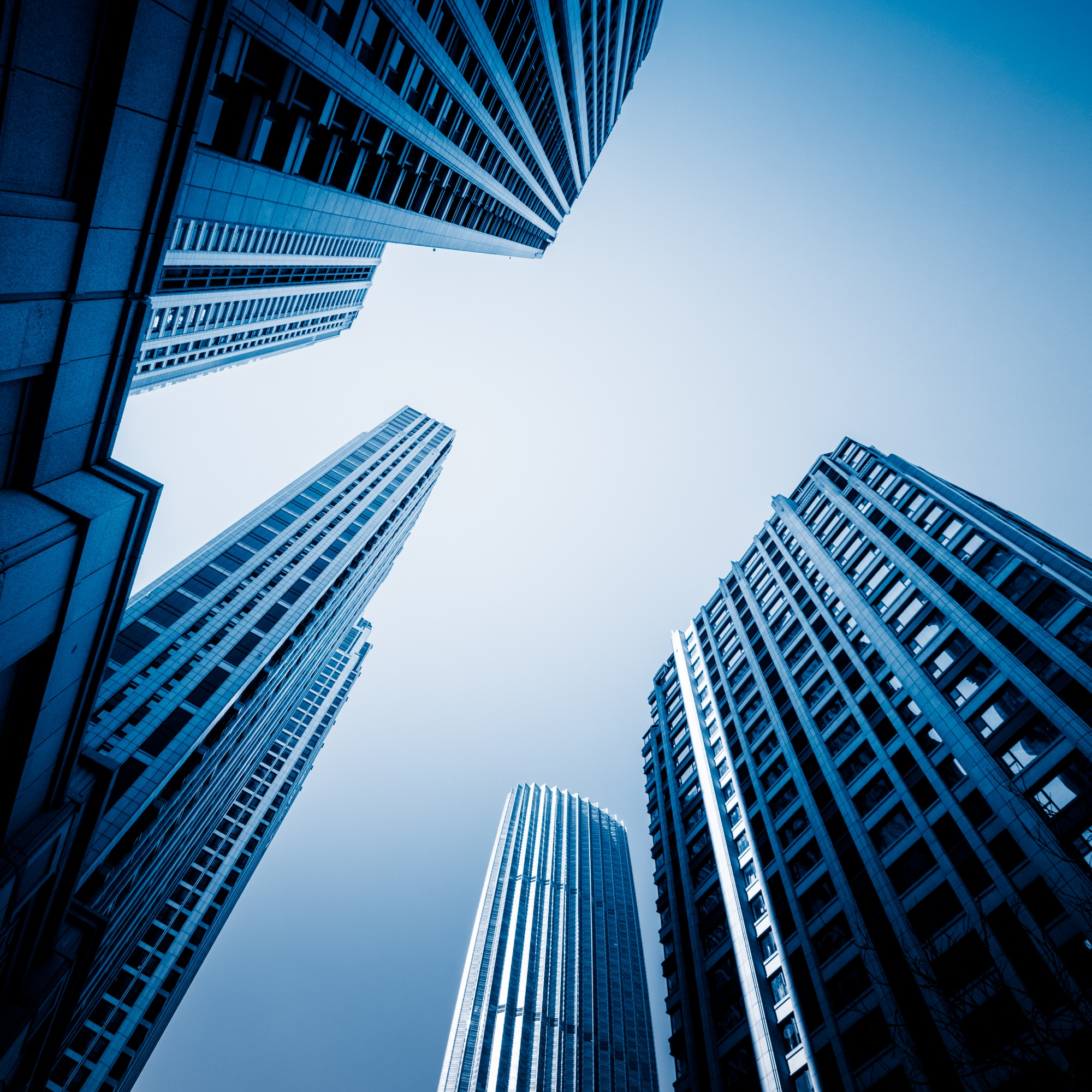 Skyscrapers from a low angle view