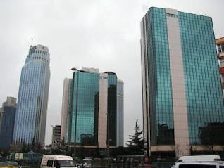 Skyscrapers in Istanbul, center