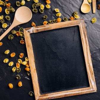 Slate and pasta