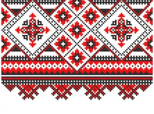 slavonic knitting patterns background vector set