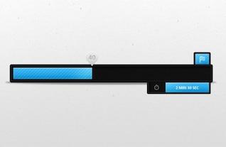 sleek black progress loading bar psd
