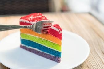 Slice pastry dish birthday nobody utensils