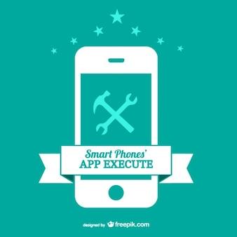 Smart phone app vector