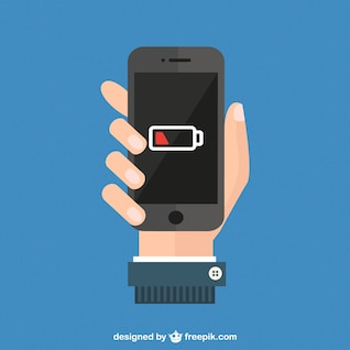 Smartphone battery level vector
