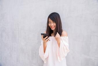 Smartphone beautiful cellphone chinese asian