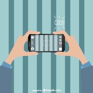 Smartphone camera vector free download