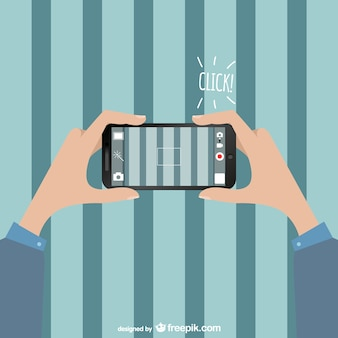 Smartphone camera vector free download