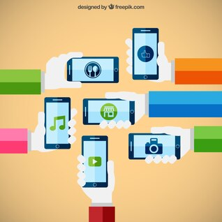 Smartphones technology concept