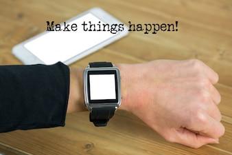 Smartwatch in white