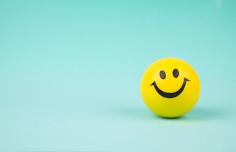 Smiley face ball on background sweet retro vintage color