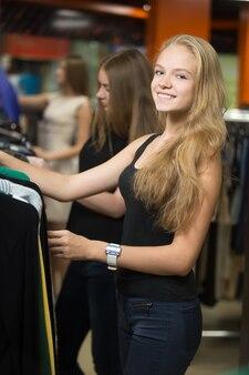 Smiling blonde woman