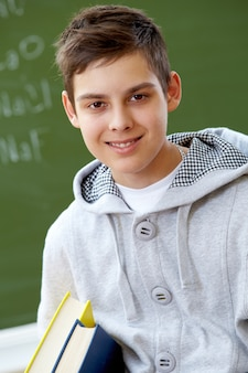 Smiling student with casual clothes