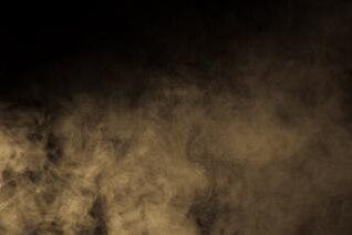Smoke, light, meditating