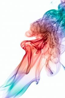 Smoke, smell, color, abstract