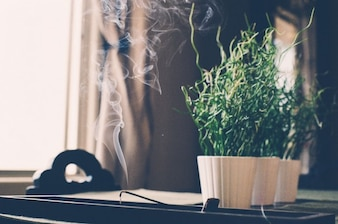 Smoking incense