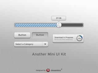 smooth grey mini web ui elements kit psd
