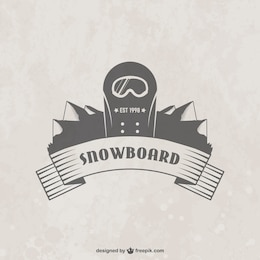 Snowboard badge