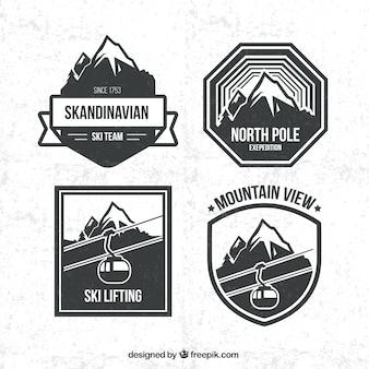 Snowboarding badges pack