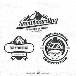 Snowboarding badges