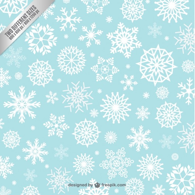 Snowflakes background pattern