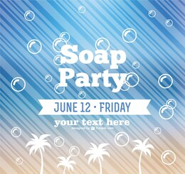 Soap party vector