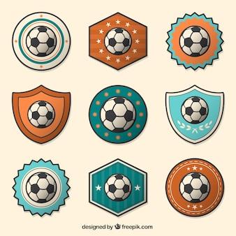 Soccer ball badges