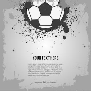 Soccer ball grunge design
