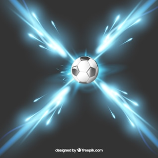 Soccer ball light speed vector
