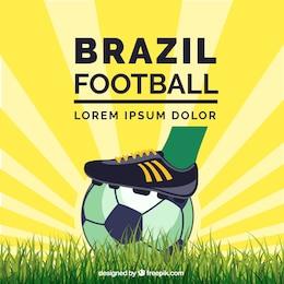 Soccer Brazil concept vector