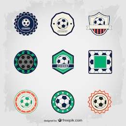 Soccer free badges set