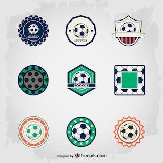Soccer free badges set