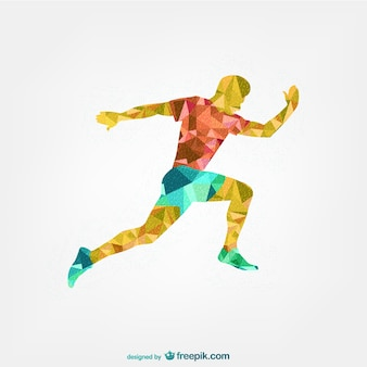 Soccer player geometric design