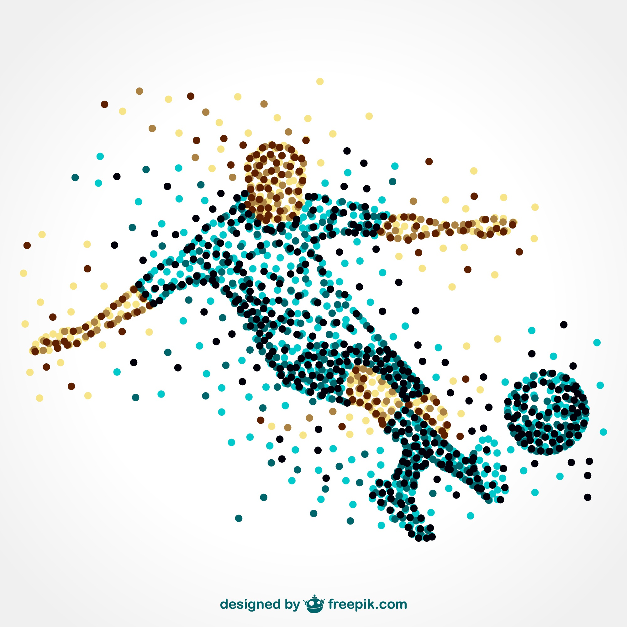 Soccer player running with ball vector