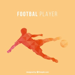 Soccer player vector triangle design