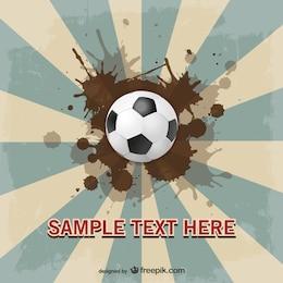 Soccer suburst vector template design