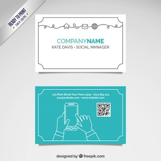 Social manager card