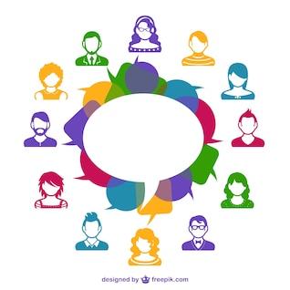 Social media avatars template