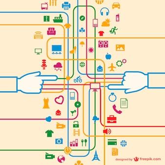 Social media free network concept