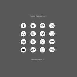 social media icons set vector pack