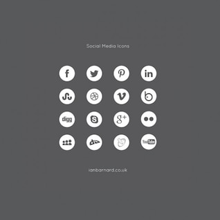 social media icons set vector pack